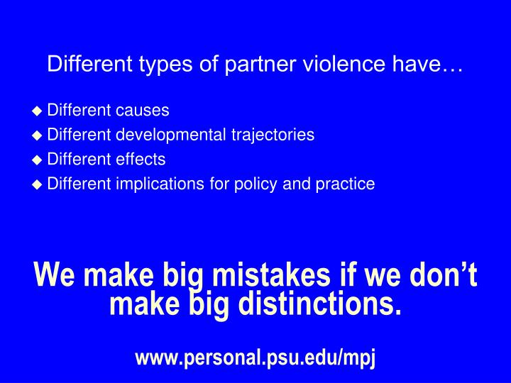 We make big mistakes if we don't make big distinctions.