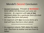 mendel s second conclusion
