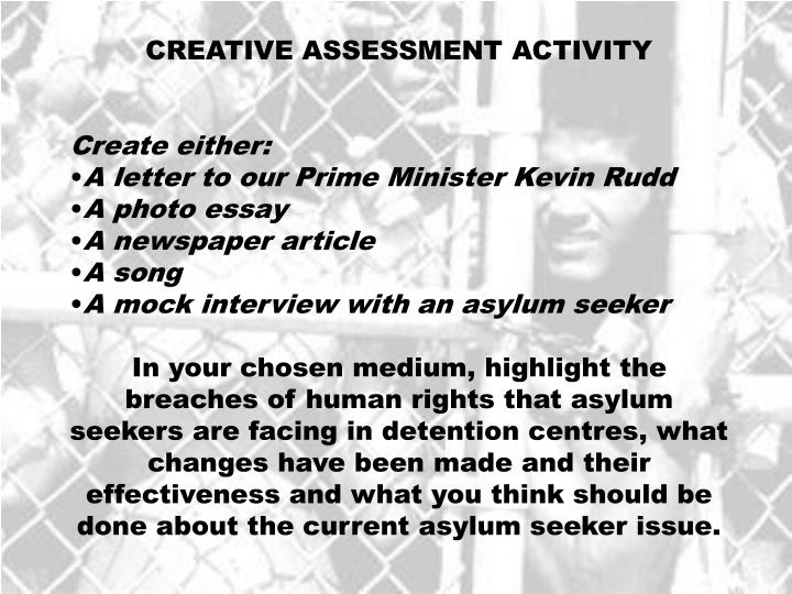 CREATIVE ASSESSMENT ACTIVITY