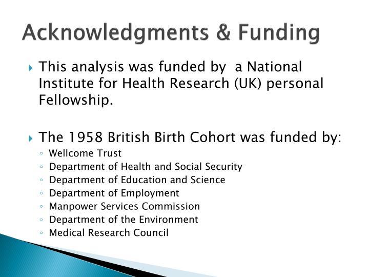 Acknowledgments & Funding