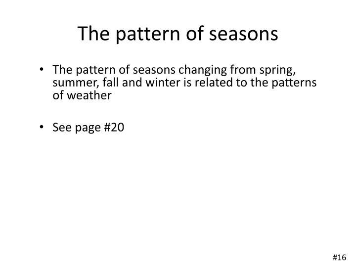 The pattern of seasons
