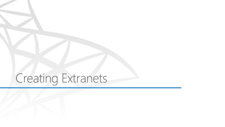 Creating Extranets