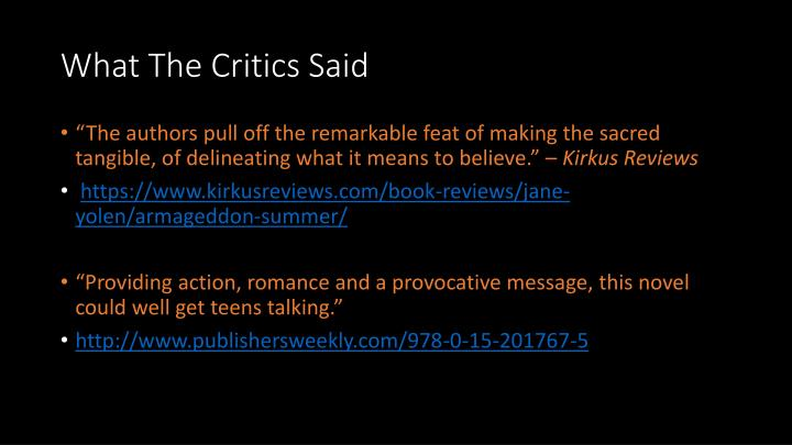 What The Critics Said