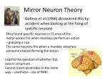 mirror neuron theory