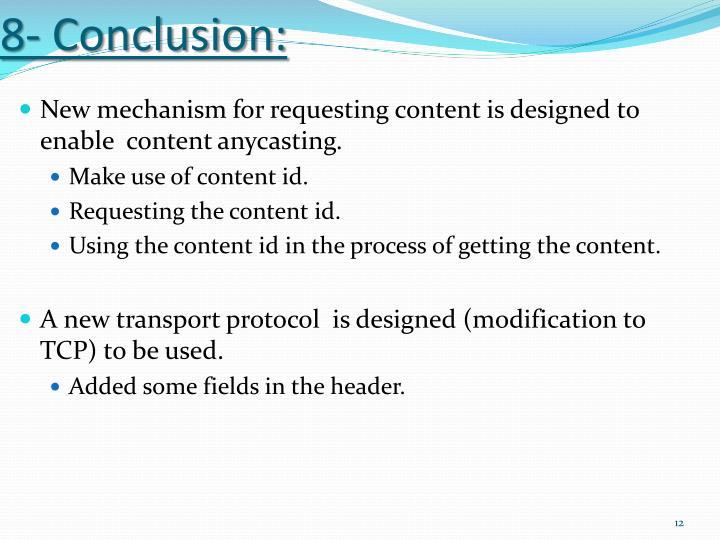 8- Conclusion: