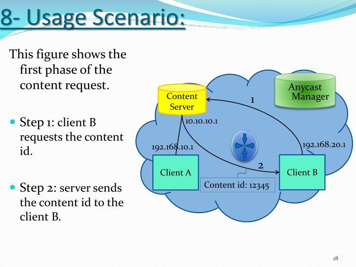 8- Usage Scenario: