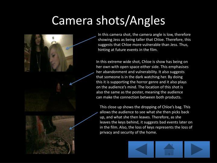 Camera shots/Angles