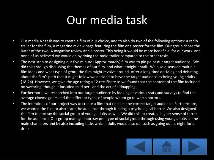 Our media task