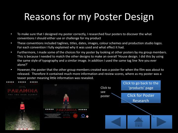 Reasons for my Poster Design
