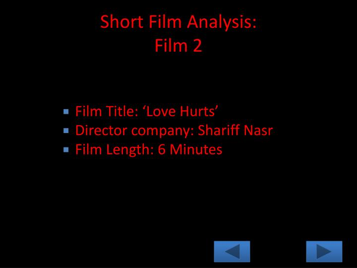 Short Film Analysis: