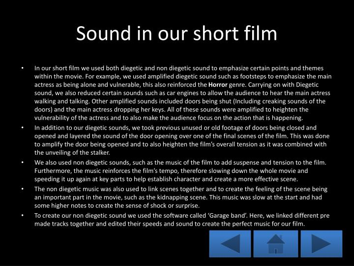 Sound in our short film