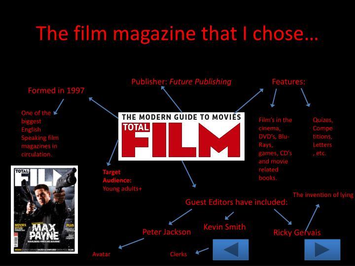 The film magazine that I chose…