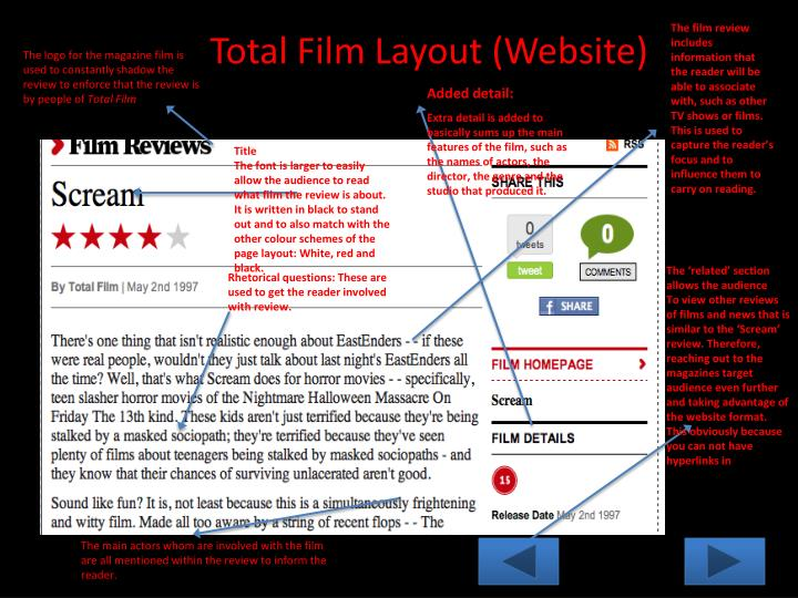 The film review includes information that the reader will be able to associate with, such as other TV shows or films.
