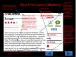 total film layout website