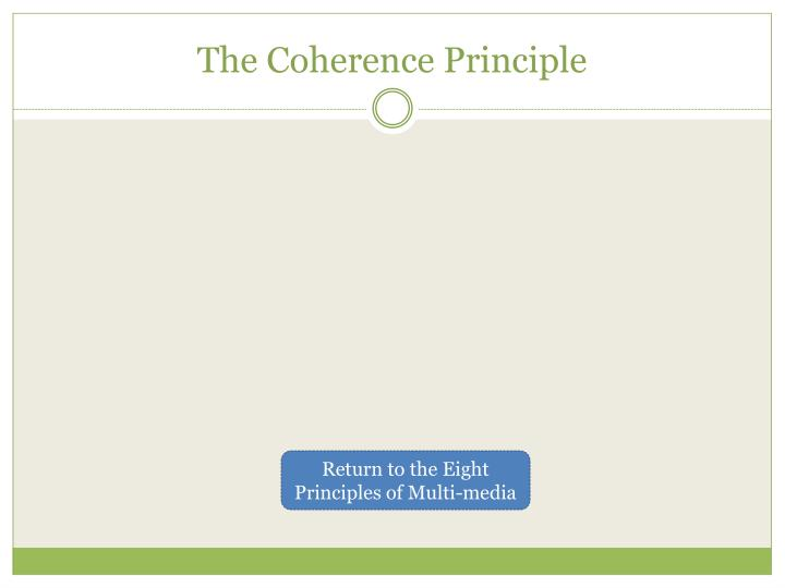 The Coherence Principle