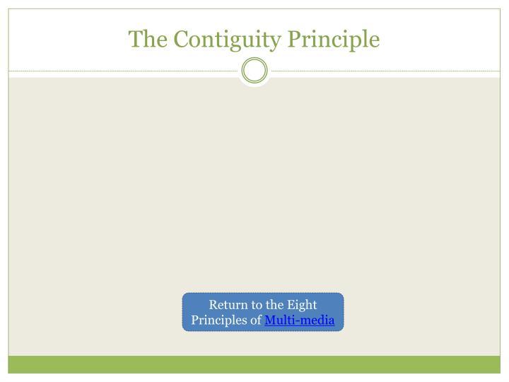 The Contiguity Principle