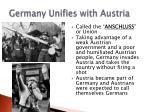germany unifies with austria