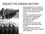 rebuild the german military