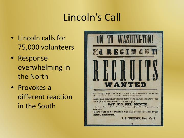 Lincoln s call
