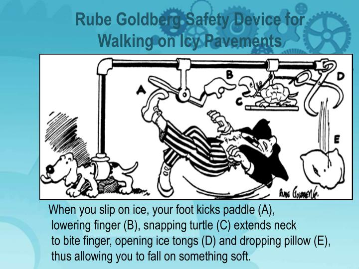 Rube Goldberg Safety Device for