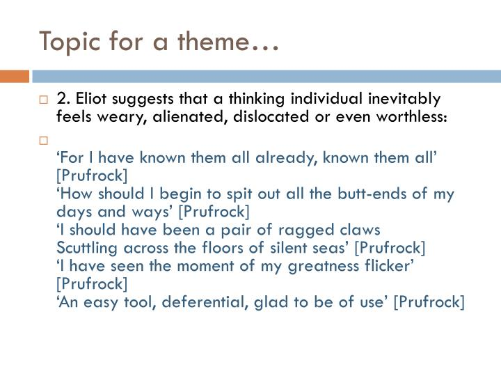 Topic for a theme…