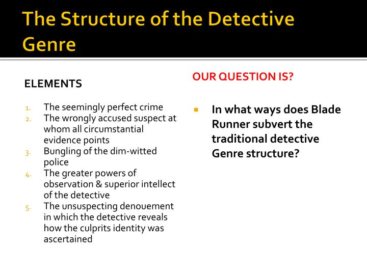The Structure of the Detective Genre