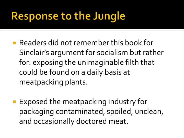 Response to the Jungle