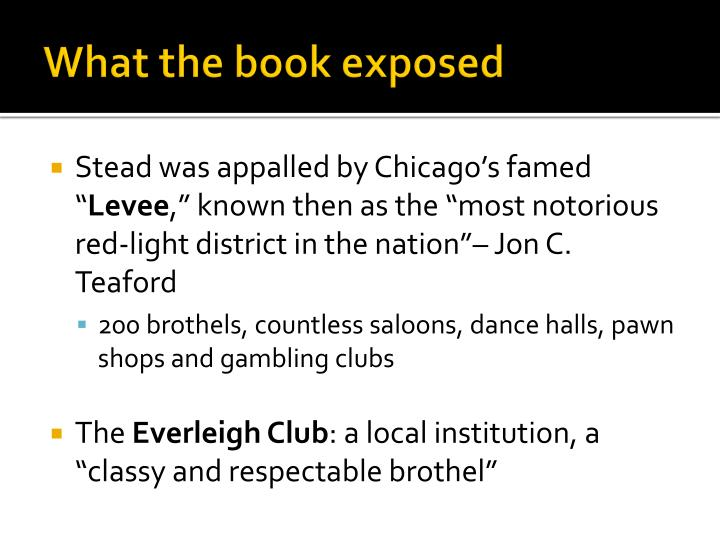 What the book exposed