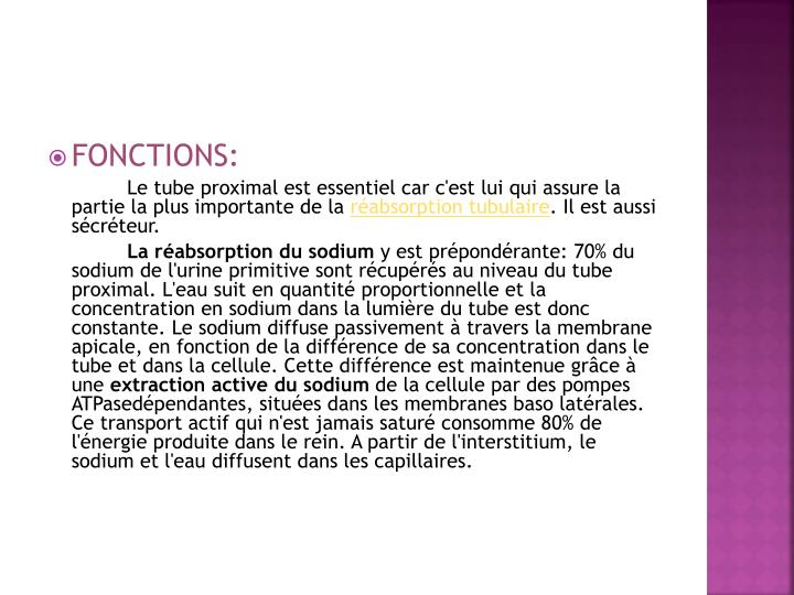 FONCTIONS: