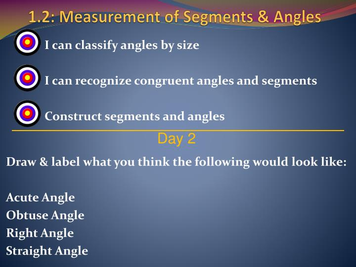 I can classify angles by size