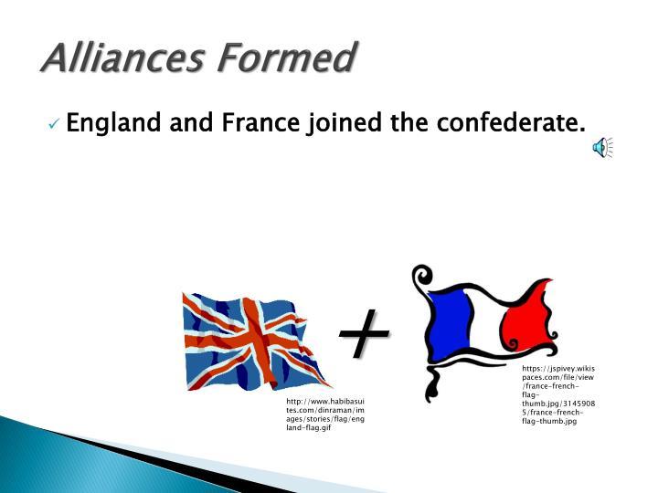 Alliances Formed