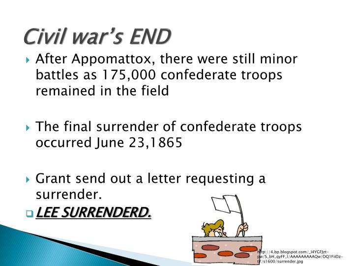 Civil war's END