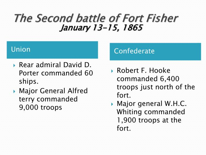 The Second battle of Fort Fisher
