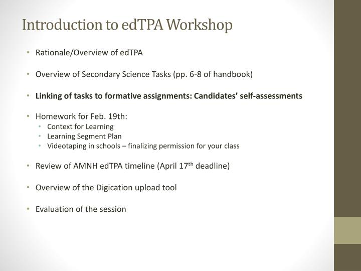 Introduction to edTPA Workshop