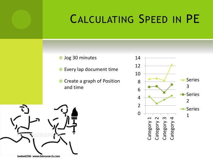 Calculating Speed in PE