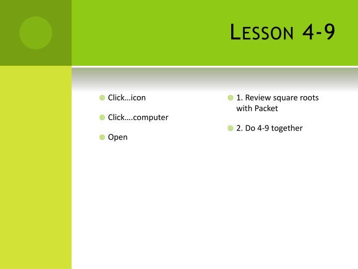 Lesson 4-9