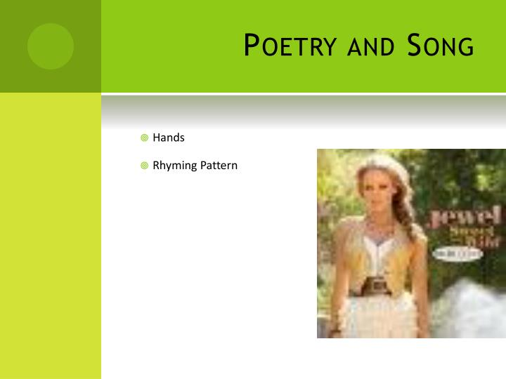 Poetry and Song