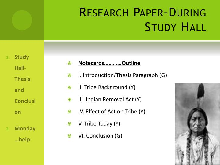 Research Paper-During Study Hall