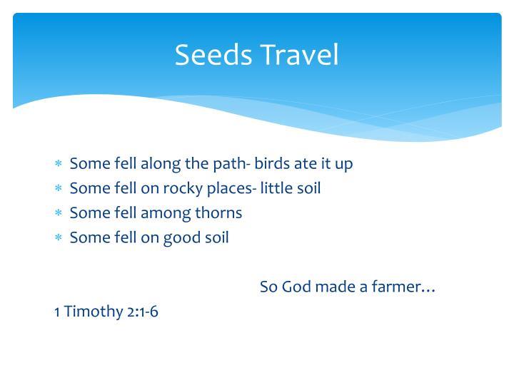 Seeds Travel