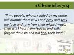2 chronicles 7 14