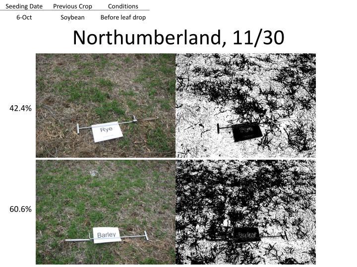 Northumberland, 11/30