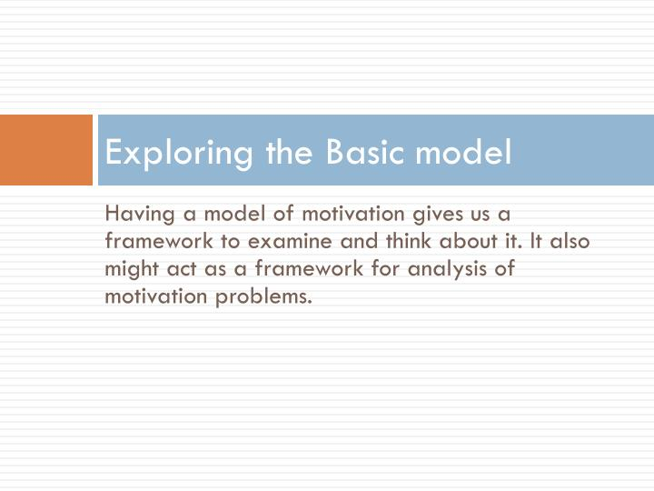 Exploring the basic model