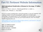 part xi pertinent website information4