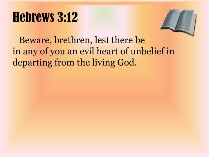 Hebrews 3:12