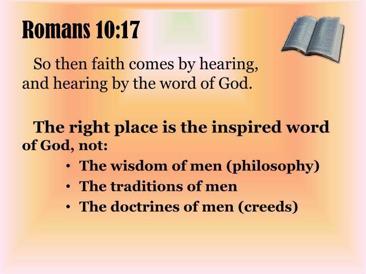 Romans 10:17