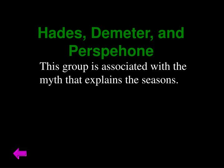 Hades, Demeter, and