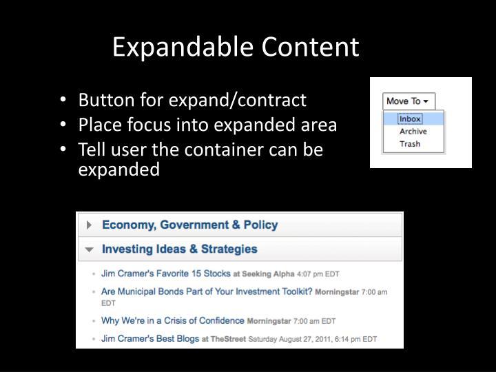 Expandable Content