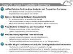 deepdb value proposition summary