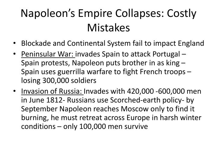 Napoleon's Empire Collapses: Costly Mistakes