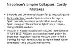 napoleon s empire collapses costly mistakes